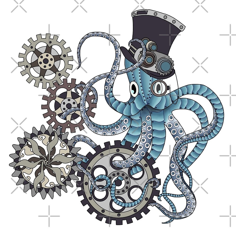 Steampunk octopus by paviash