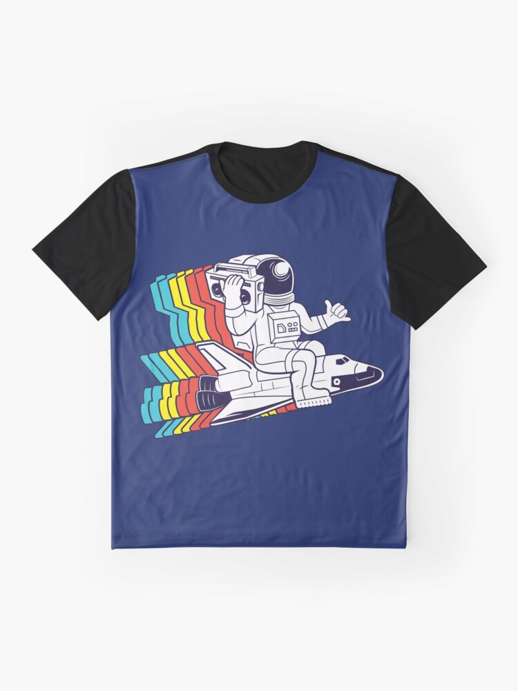 Alternate view of funky astronaut Graphic T-Shirt
