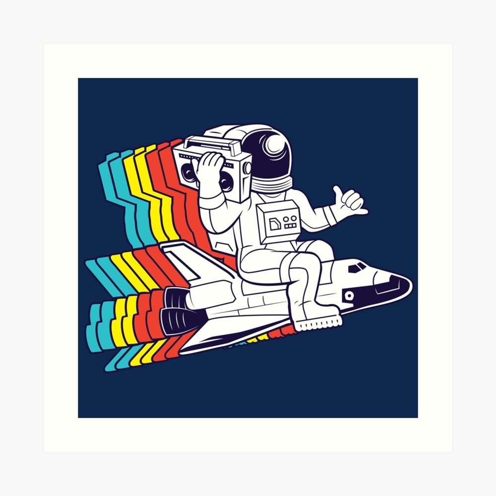 funky astronaut Art Print