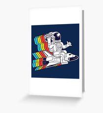 funky astronaut Greeting Card