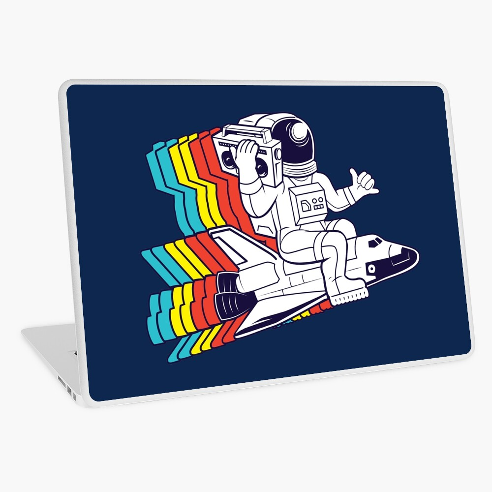 funky astronaut Laptop Skin