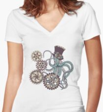 Mr. Octopus Women's Fitted V-Neck T-Shirt