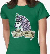 Nerd Unicorn Pride Womens Fitted T-Shirt