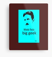 Rule Nikola Tesla T-Shirts - Redbubble - nikola tesla facts Metal Print