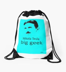 Nikola Tesla T-Shirts - Redbubble - nikola tesla facts l Redbubble Drawstring Bag