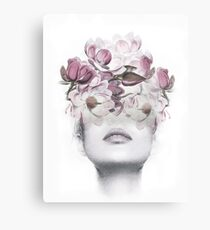 Flowers woman Canvas Print