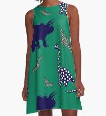 dinosaur  green A-Line Dress