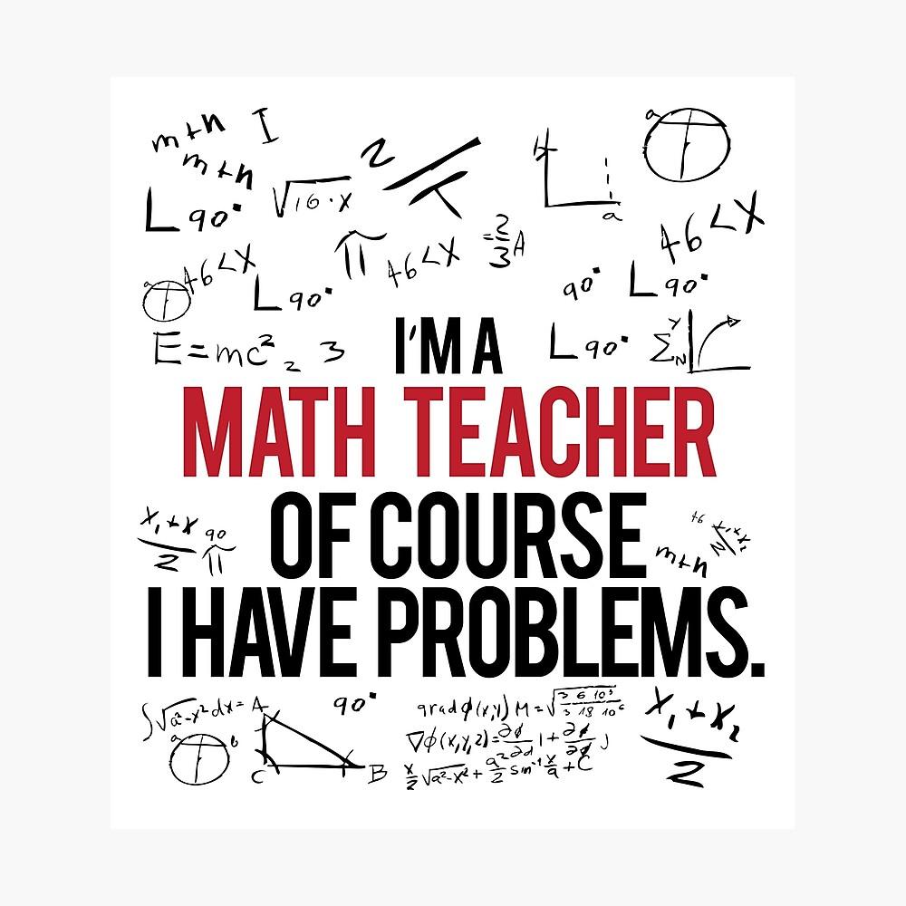 Mathe Lehrer mit Problemen Fotodruck