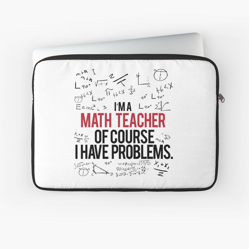 Mathe Lehrer mit Problemen Laptoptasche