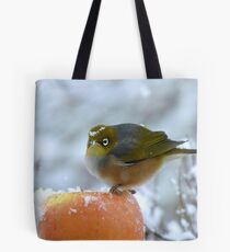 Don't I Look Beautiful With A Snow Crown! - Wax-Eye - NZ Tote Bag