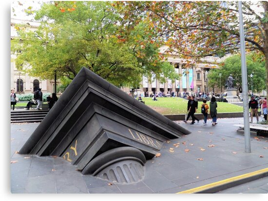 Outside Melbourne Library by Yolanda Caporn