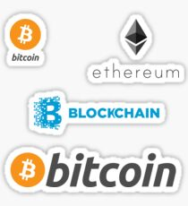 Pegatina bitcoin blockchain ethereum set