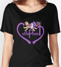 Cutie Pooch Signature Tee Purple Women's Relaxed Fit T-Shirt