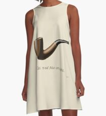 The Treachery of Images - Magritte A-Line Dress