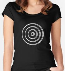 Mandala 5 Simply White Women's Fitted Scoop T-Shirt