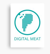 Digital Meat Logo With Text Canvas Print