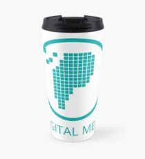 Digital Meat Logo With Text Travel Mug