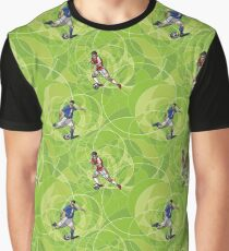 Seamless pattern with soccer players Graphic T-Shirt