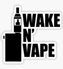 Wake N' Vape Sticker