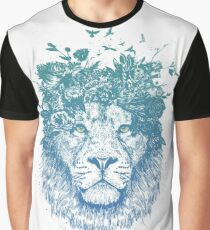Floral lion Graphic T-Shirt