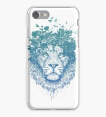 Floral lion iPhone Case/Skin