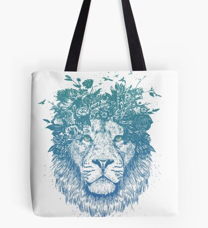 Floral lion Tote Bag