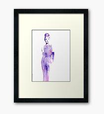 Watercolour Audrey Hepburn Framed Print