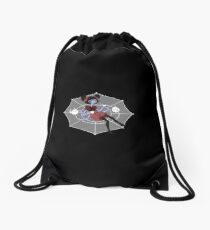 In the spiders web Drawstring Bag