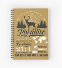 Cuaderno de espiral PARAÍSO (Vintage Rústico)