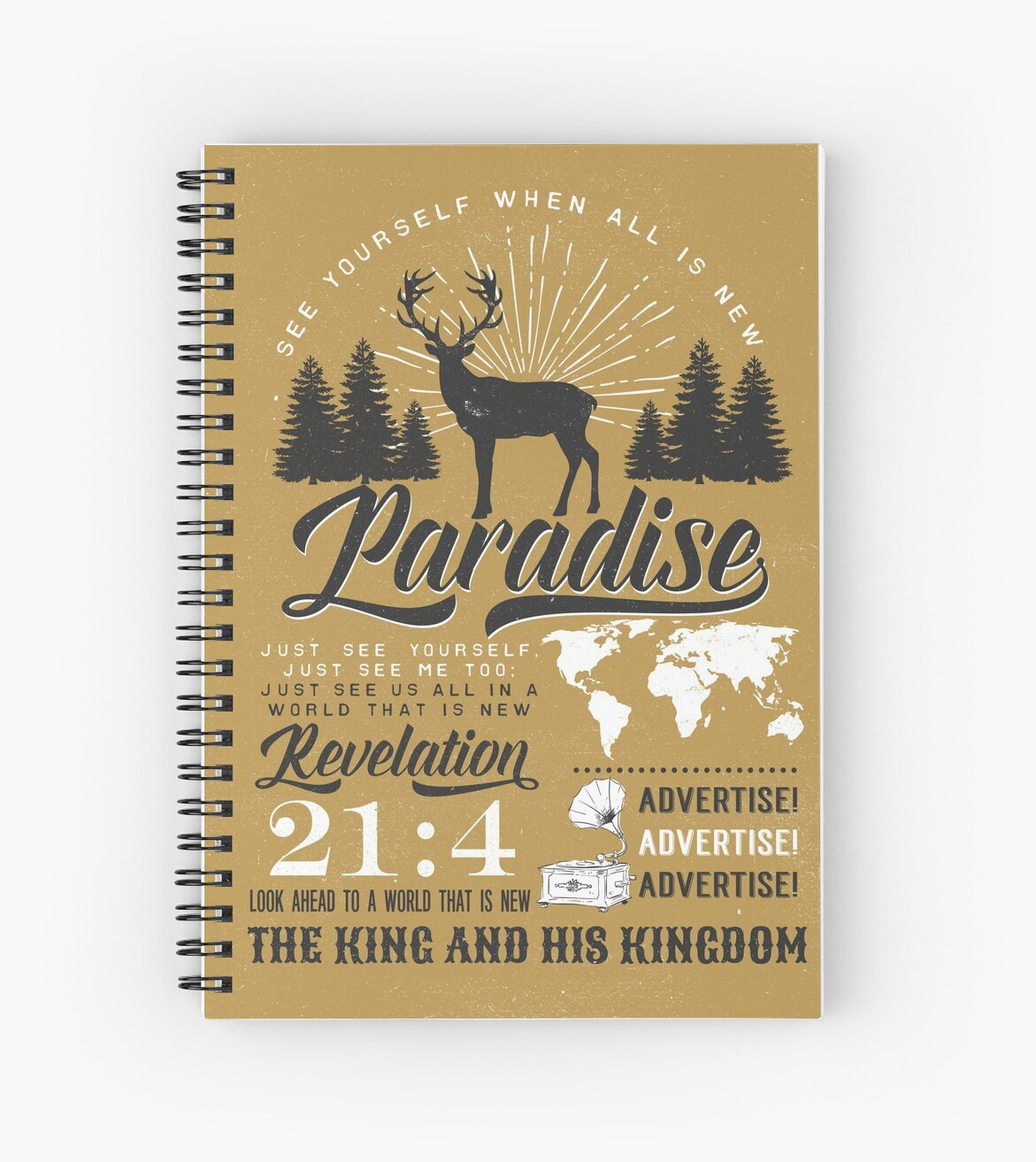 Paradies (rustikale Vintage) von JW ARTS & CRAFTS