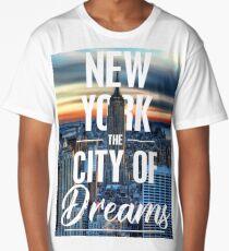 New York, The City Of Dreams Long T-Shirt