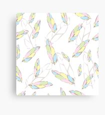 Fashionable, stylish, bright feathers Canvas Print