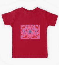 lobster and bug flower pattern Kids Tee