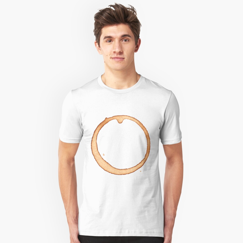 Vector coffee ring Unisex T-Shirt Front