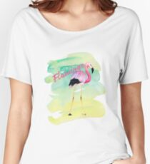 Watercolor Flamingo Women's Relaxed Fit T-Shirt