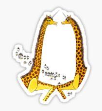 Uni-Giraffes Dancing Sticker