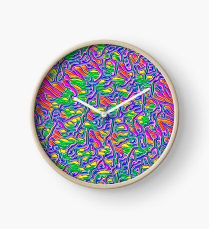 Abstract flowers Clock