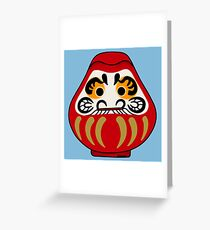 Cute Daruma doll Greeting Card