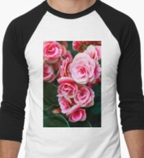 Gentle Blushing Roses Men's Baseball ¾ T-Shirt