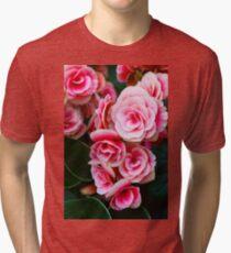 Gentle Blushing Roses Tri-blend T-Shirt