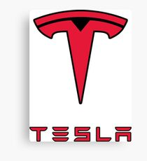 Tesla Logo Canvas Print