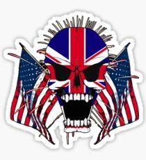 European Screaming Skull  Sticker