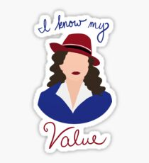 Agent Carter - I Know My Value Sticker
