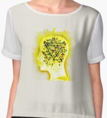 Yellow Mindsweep Chiffon Top