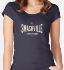 Smashville Strength Preds Fans Stand With Us Women's Fitted Scoop T-Shirt
