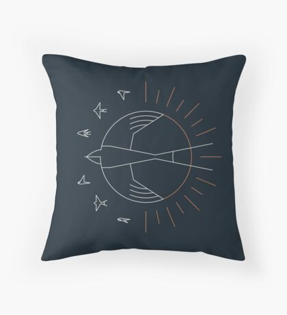 Swallow The Sun Throw Pillow