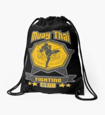 Muay Thai Tiger Fighting Club - Thailand Holy Fighters Drawstring Bag