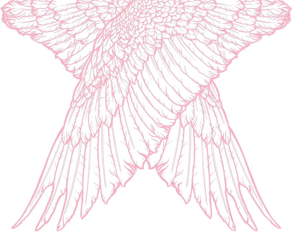 Pink guardian angel by MiryamsArtWork