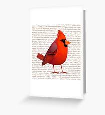 Masked Cardinalis Greeting Card