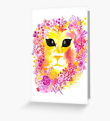 Dandy-Lion - By Merrin Dorothy Greeting Card
